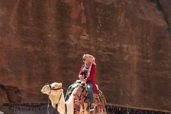 Petra - Kamel vor dem Schatzhaus