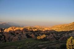 Sonnenaufgang in Dana, Jordanien
