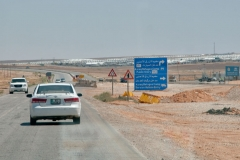 Flüchtlingscamp an der Straße nach Azraq