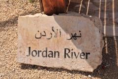 Schild am Jordan