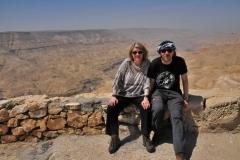 Thomas und ich vor dem Tal Wadi Mujib
